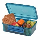 Clic-Tite Rectangular Duo Lunch Box 1.5L Blue 1