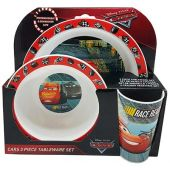 Cars 3 PP 3 Piece Tableware Set