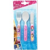 Disney Princess Forever 3 Piece Metal Cutlery Set