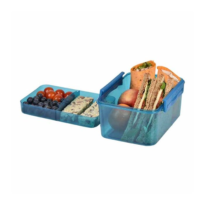 lunch box blue large layered clic-tite polar gear