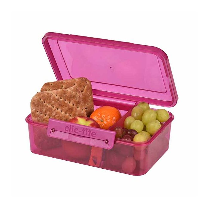 lunch box large pink clic tite polar gear