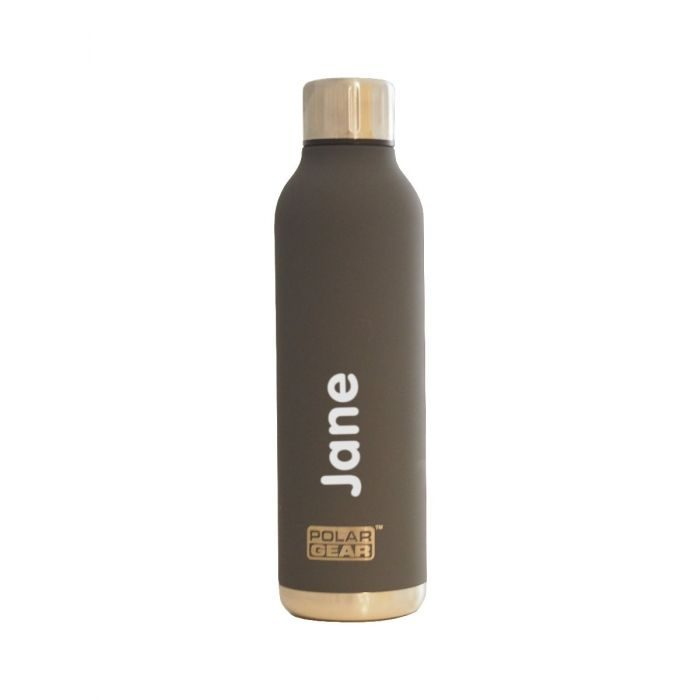 Personalised Grey Stainless Steel Orion Insulated Bottle