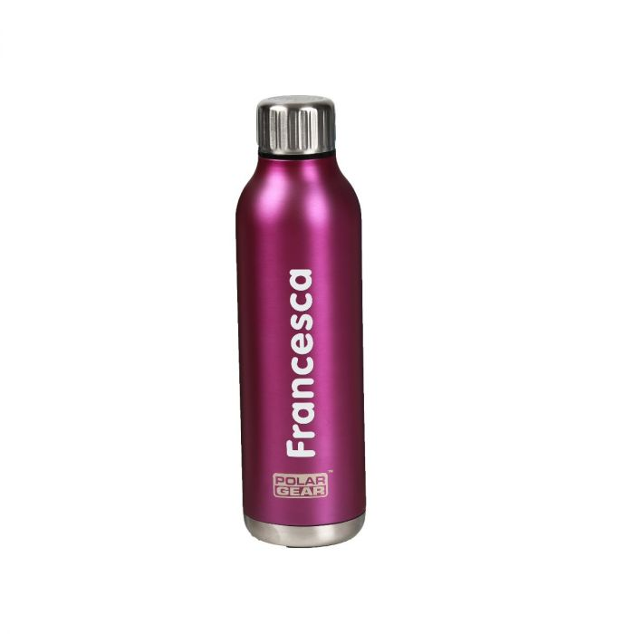 Personalised Pink Stainless Steel Orion Insulated Bottle
